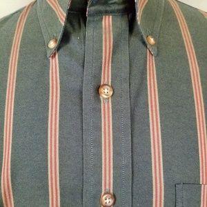 Brooks Brothers Shirts - Brooks Brothers '346' L Green Striped Non-Iron